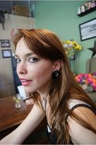 black Conversation Pieces earrings