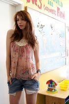 pink Conversation Pieces blouse