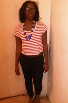 red new look t-shirt - navy senegal accessories