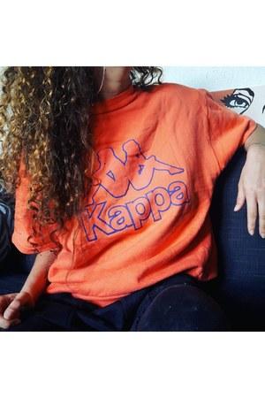 orange cotton sweater - orange Kappa sweater