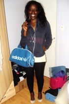 H&M jacket - Promod t-shirt - leggings - Addidas accessories
