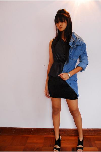 Topshop shirt - Vtg top - skirt - - Omega