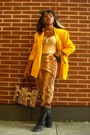 Yellow-vp-collections-blazer-black-miz-mooz-boots-camel-charm-luck-bag