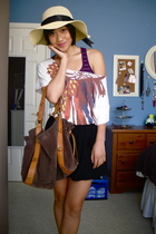 Target hat - American Eagle top - forever 21 top - PacSun skirt - Lucky Brand pu