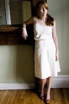 beige lace peekaboo dress