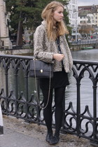 Zara jacket - vintage jacket - H&M skirt - vintage accessories - Topshop shoes