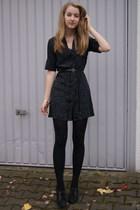 vintage dress - Primark belt - H&M shoes - VintageBijou BrigitteH&M accessories