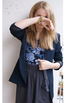 vintage blazer - H&M shirt - American Apparel skirt - Forever 21 vest - vintage
