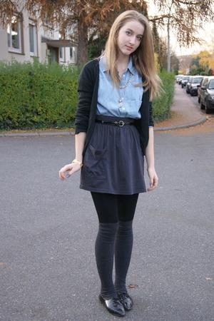 H&M shirt - American Apparel skirt - H&M socks - Primark belt - Zara jacket - Za
