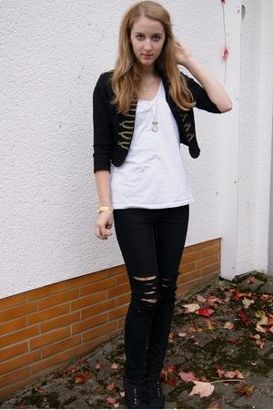 H&M jacket - Zara shirt - Cheap Monday pants - H&M shoes
