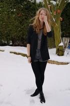 black SilenceNoise blazer - black Zara shirt - gray Cheap Monday shorts - black
