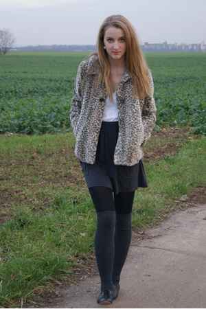 Zara coat - Zara shirt - H&M socks - American Apparel skirt - Topshop shoes