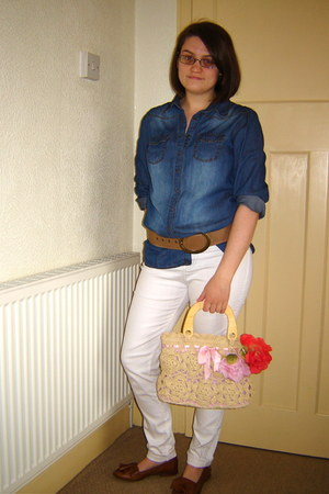 Urban Outfitters jeans - H&M shirt - bag - Primark belt - Topshop loafers