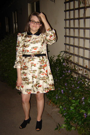tba dress - Topshop bag - Dahlia belt - Prada glasses - Topshop heels