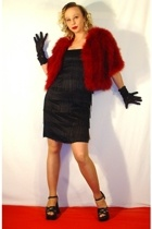 vintage from Ebay jacket - Reiss dress - Traderase shoes - gloves