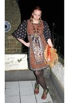 dress - jacket - Terra Plana boots - CalamityJem DIY necklace - bracelet - M&S t