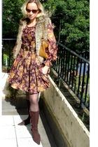 Via Uno shoes - Nine West purse - vintage dress - Topshop jacket