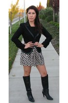 Alfani boots - Bebe jacket - Forever 21 skirt - H&M top