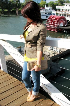 Theory jacket - Forever 21 top - Earnest Sewn jeans - Micheal Kors accessories -