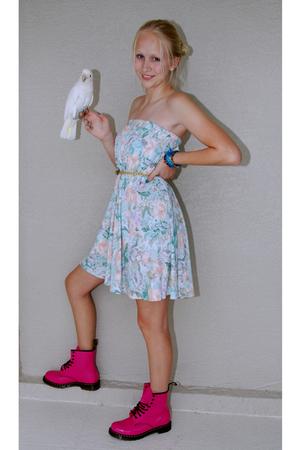 dress - Urban Outfitters belt - doc martens boots