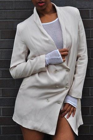 white Cheap Monday bodysuit - beige Christian Louboutin shoes - beige H&M blazer