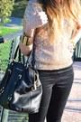 Metallic-golden-forever-21-bracelet-leather-michael-kors-bag