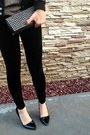Black-forever21-jacket-black-vintage-leggings-gold-vintage-shirt