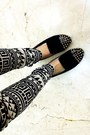 Black-geometric-pants-h-m-pants-black-golden-studs-rampage-shoes
