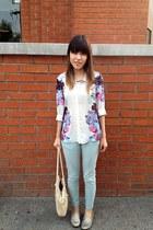 floral shirt H&M shirt - vintage bag vintage bag