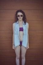 shirt - swimwear - glasses