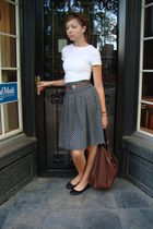 black banana republic skirt - white Target shirt - black American Eagle shoes -
