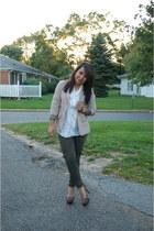 Forever 21 blazer - Forever 21 pants - vintage blouse - Charlotte Russe pumps
