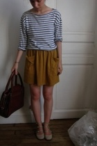 Chlo purse - American Apparel skirt - t-shirt - Chlo shoes