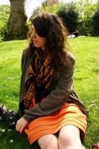 APC dress - vanessa bruno ath jacket - scarf