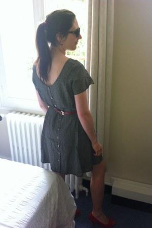 gray vintage dress