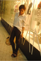 Forever 21 blouse - Janylin shoes - Uniqlo pants - Anne Klein watch