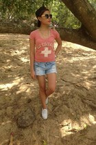 Fifth Sun shirt - Celebrity shorts - Keds sneakers - Forever 21 accessories