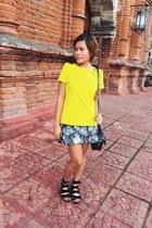 StellarByCDR shoes - Rhode Island bag - Terranova skirt - Zara top