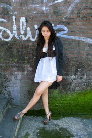 dark gray Topshop vest - cream asos top