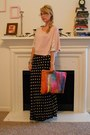 Pink-and-lace-cayon-river-blues-shirt-campcurfew-bag-black-polka-dot-thrifte