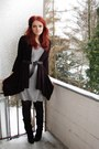 Heather-gray-sisters-dress-black-esprit-cardigan-black-bronx-shoes-black-b
