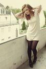 Beige-h-m-dress-black-tamaris-shoes-silver-h-m-accessories