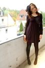 Black-esprit-dress-black-gio-moda-shoes-blue-only-jeans-jacket