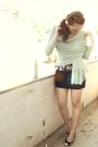Black-h-m-top-black-mango-skirt-green-h-m-cardigan-white-andrea-kamp-shoes