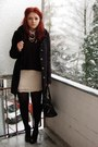 Black-gina-tricot-sweater-nude-h-m-dress-black-vero-moda-coat-black-gabor-