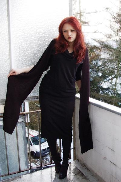 black H&M top - black GINA TRICOT skirt - black 5th Avenue shoes