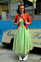 lime green prom dress Cinderellas Dresses dress - tan satchel Stylist Pick bag