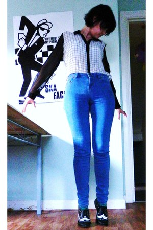 black oxfords necessary clothing shoes - blue jamie skinny Topshop jeans