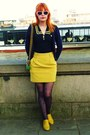 Navy-anchors-new-look-tights-yellow-forever-21-skirt