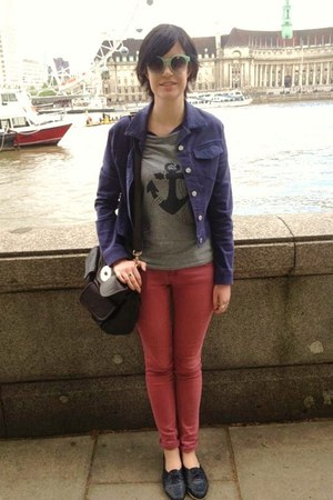 heather gray anchor Urban Outfitters t-shirt